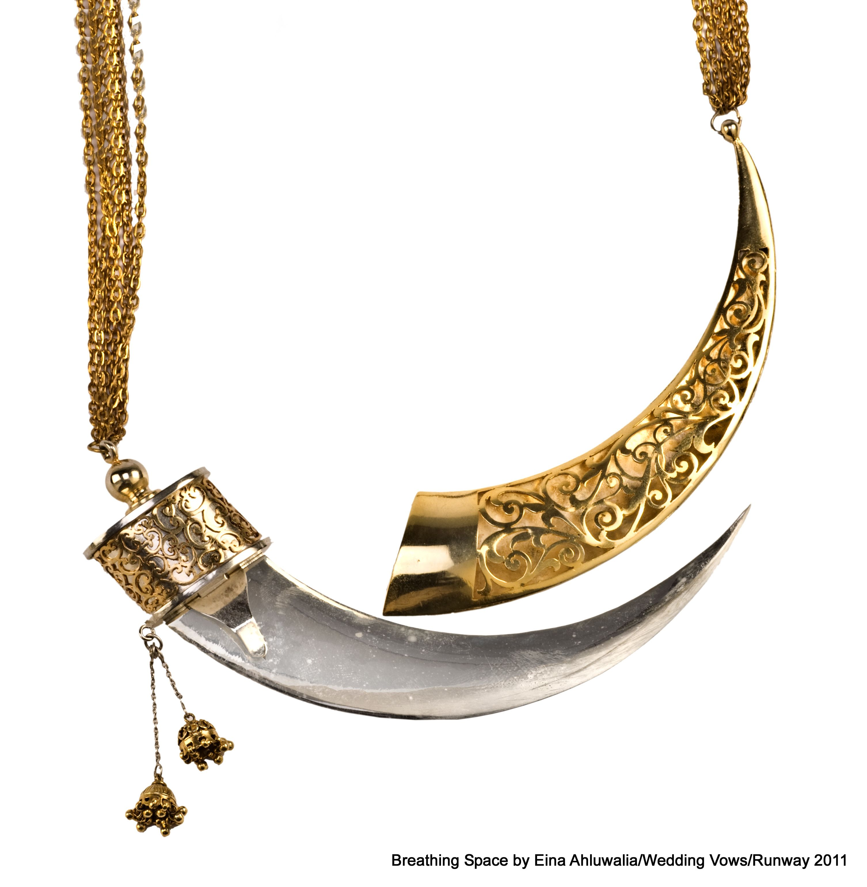 This is the coolest (and only) necklace self defense weapon I ve ever seen.   Kirpan Necklace   9f1b6738c9