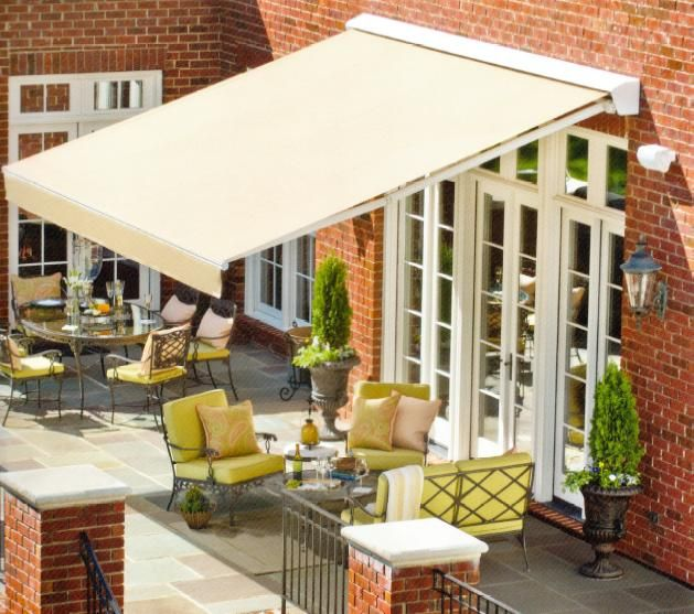 Solair Pro Retractable Awning System House Awnings Patio Patio