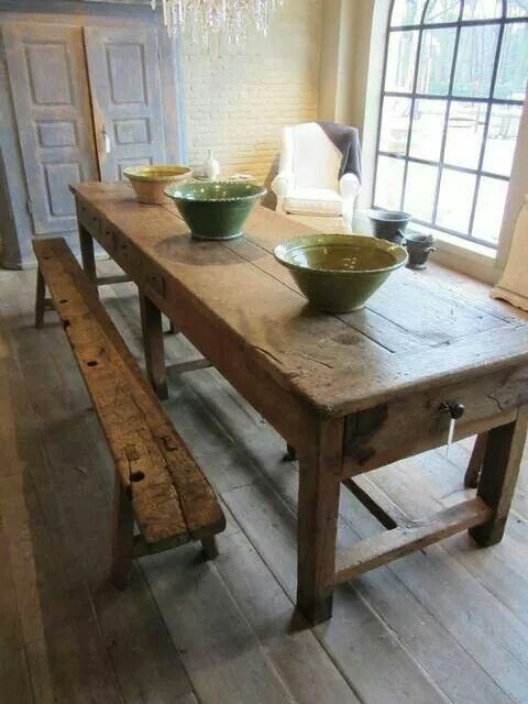 Pleasing Love The Drawers At The End Of The Table In 2019 Farmhouse Lamtechconsult Wood Chair Design Ideas Lamtechconsultcom