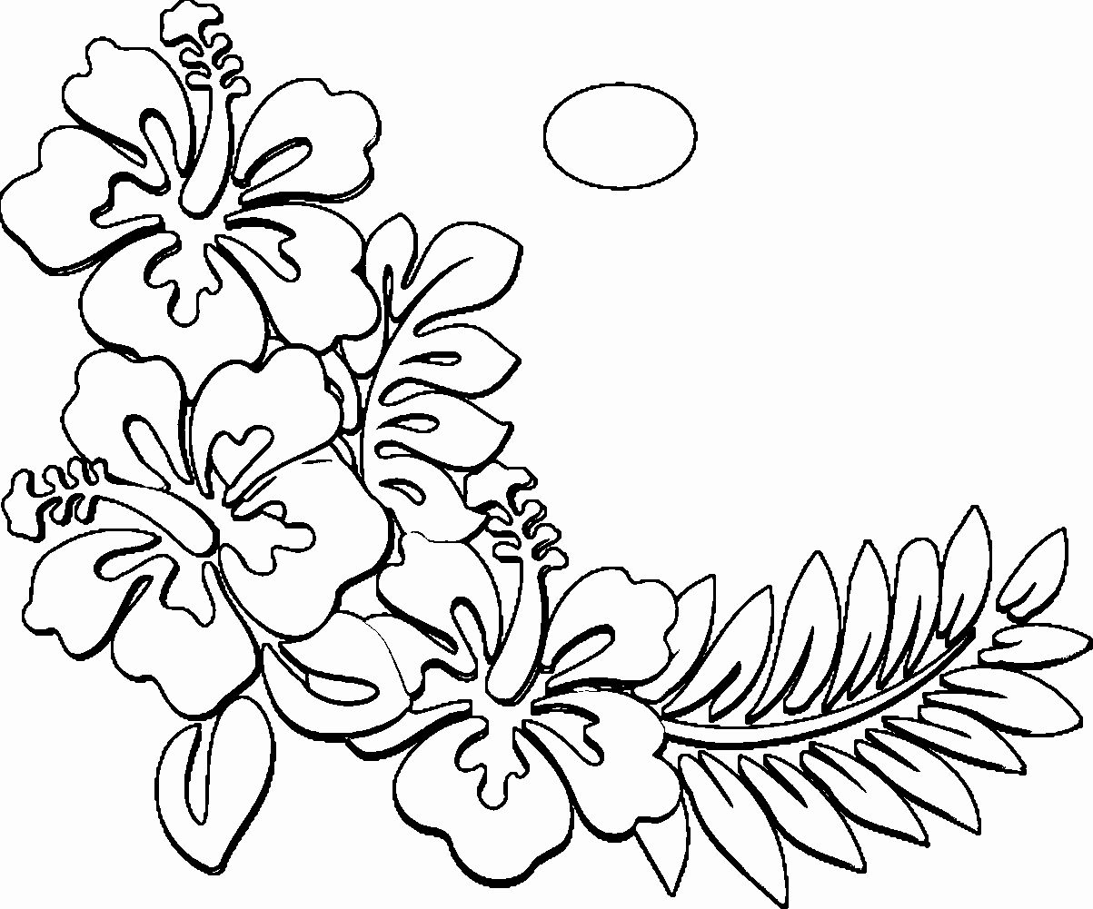 Hawaiian Flower Coloring Page Beautiful Coloring Pages About Hawaii Coloring Home Printable Flower Coloring Pages Flower Coloring Pages Pokemon Coloring Pages