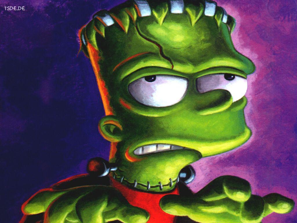 Cartoons Wallpaper Simpsons Bart Frankenstein In 2020 Cartoon Wallpaper Cartoon The Simpsons