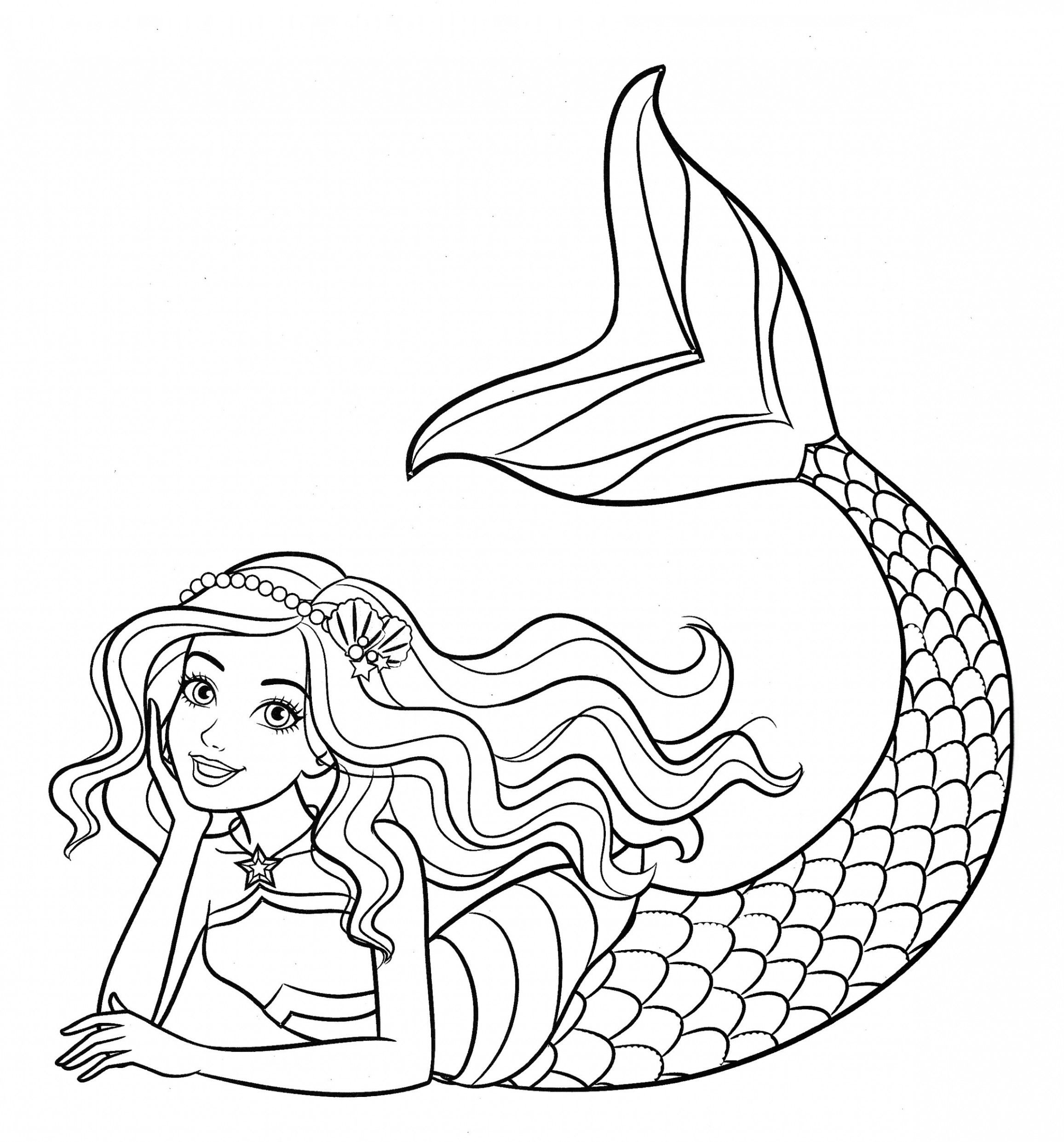 Cute Dolphins Coloring With Mermaids Coloring - PeepsBurgh