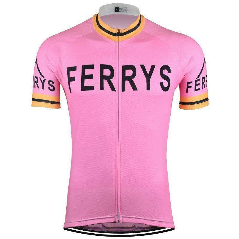 Retro Ferrys 1960 s Pink Cycling Jersey-Online Cycling Gear  cyclingshirt bd689ede3
