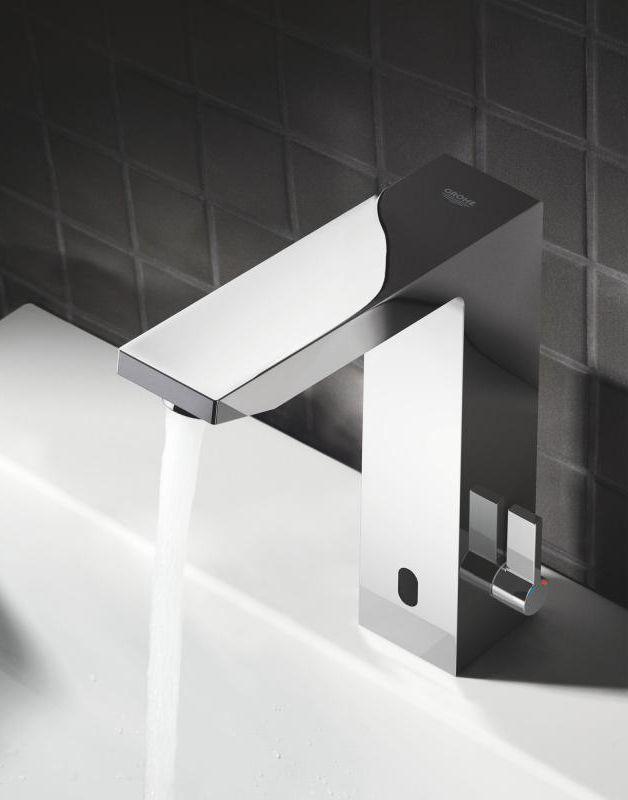 Grohe Eurocube E Infrarot Waschtischarmatur Mit Temperaturregulierung Netzbetrieben 36440000 Badezimmer Wasserhahn Waschtischarmatur Armaturen Bad