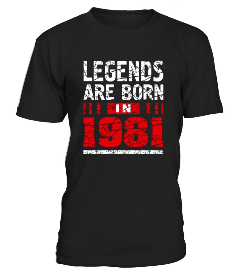 36th Birthday Gift Idea For Woman And Man Who Was Born In 1981 Year 36 Old Girl Shirt Boy T