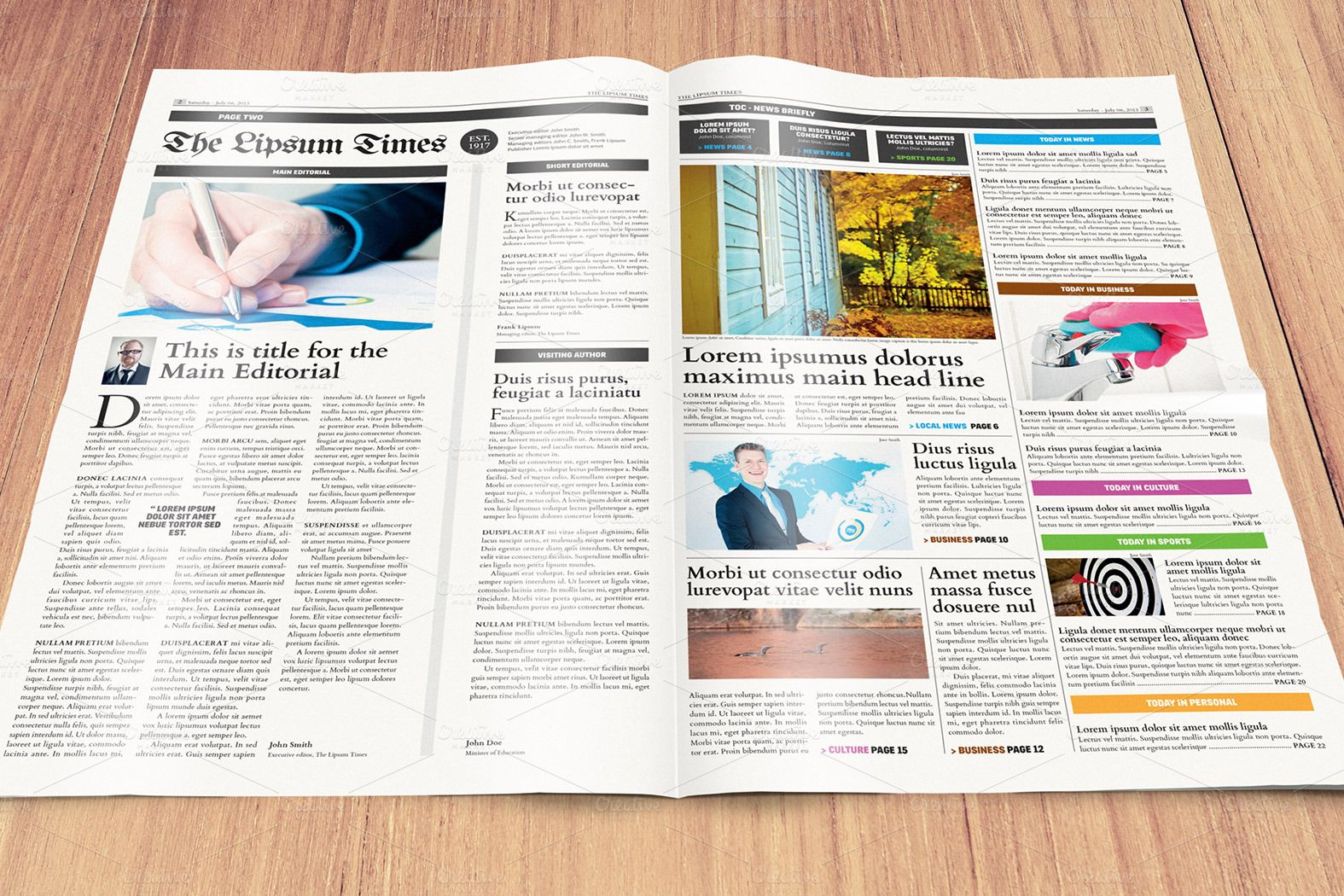 Newspaper Template - compact/tabloid by Mikko Lemola on Creative ...