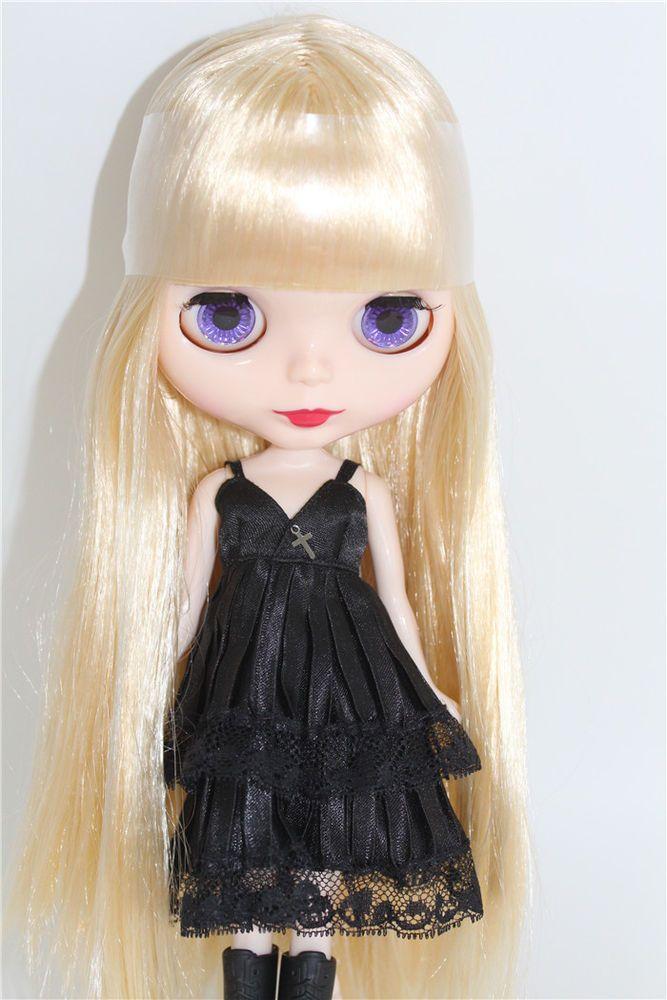"takara 12"" neo blythe gloden long straight hair doll from"