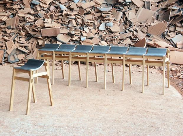 Dutch Design Week 2013: Roof Tiles Make Good Outdoor Furniture. Kawara  Bench By Tsuyoshi