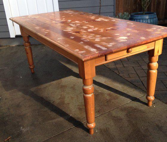 thrifted mesa de fazenda reforma, mobiliário pintado, upcycling repurposing