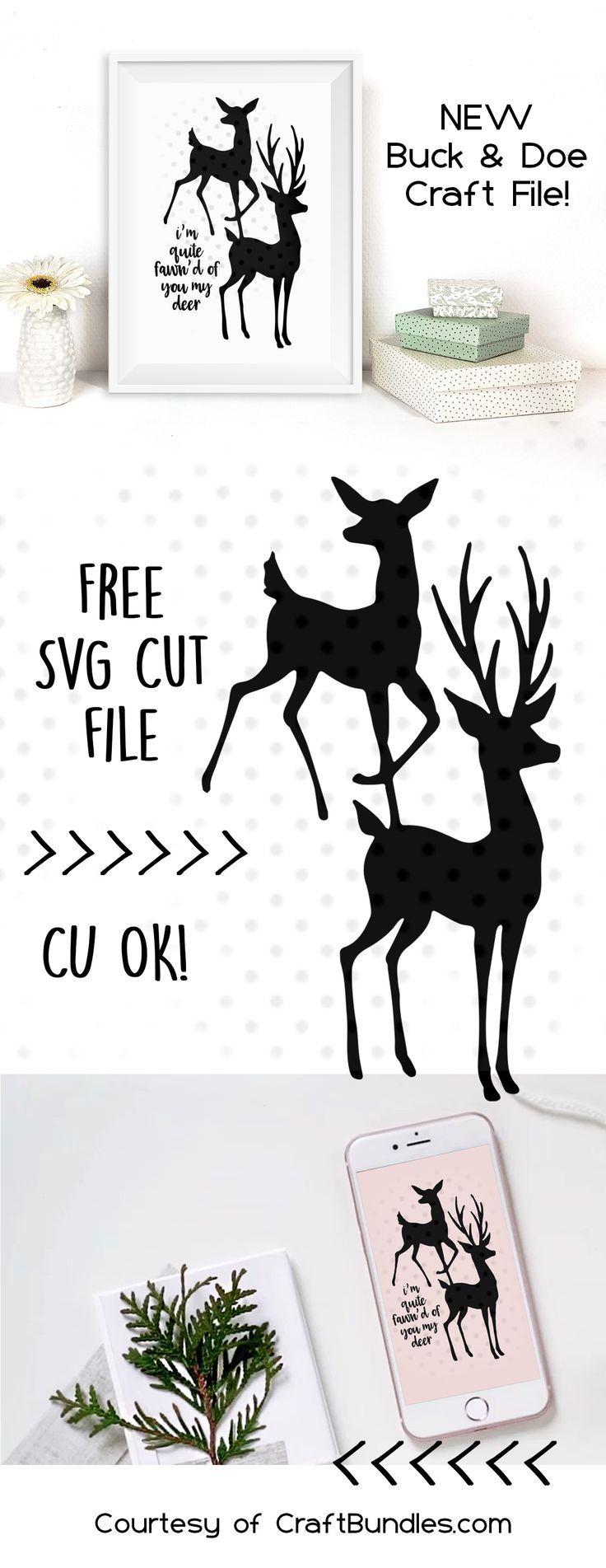 Download deer buck and doe svg free   Valentine svg files, Cricut free