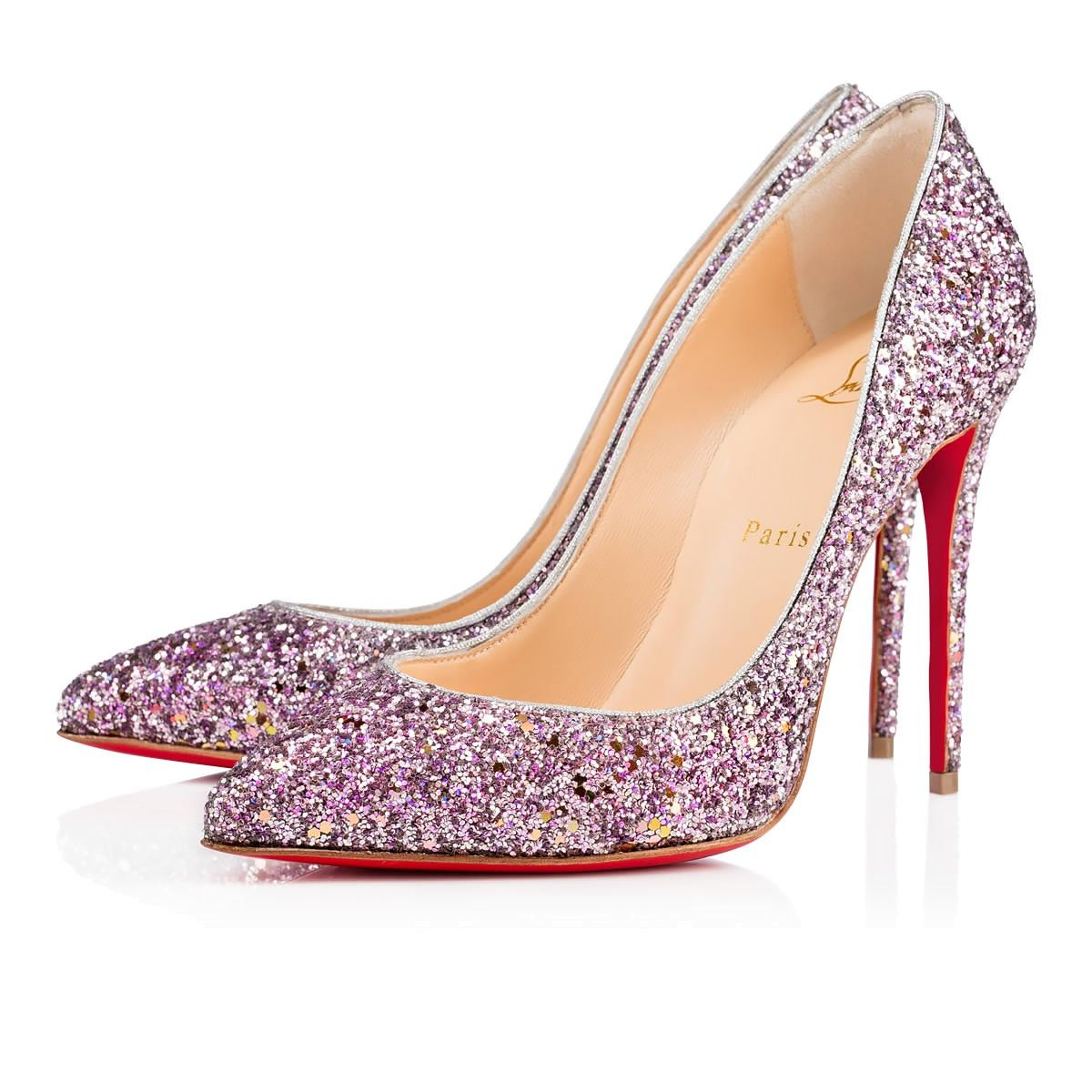 73b75e8d677d Christian Louboutin Australia Official Online Boutique - Pigalle Follies 100  Ronsard Silver Glitter available online
