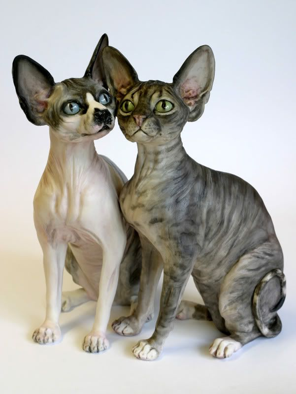 Sphynx Cat Hairless Large Chapman Sculptures | eBay #kitty - more at - Catsincare.com!