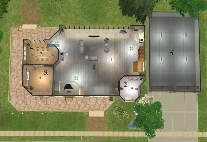 Mod The Sims The Cullen House From The Twilight Books Twilight House House Styles House