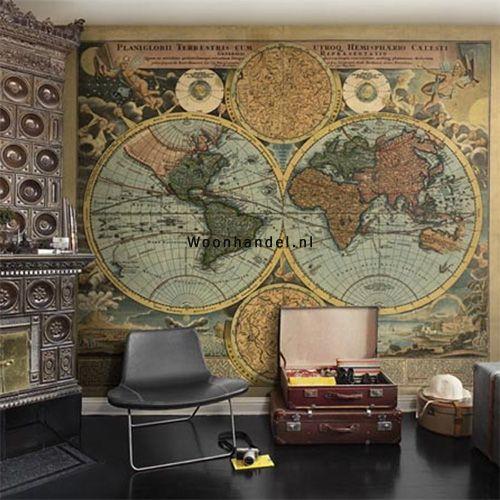 p111502-7 Worldmap Destinations Wereldkaart - Woonhandel