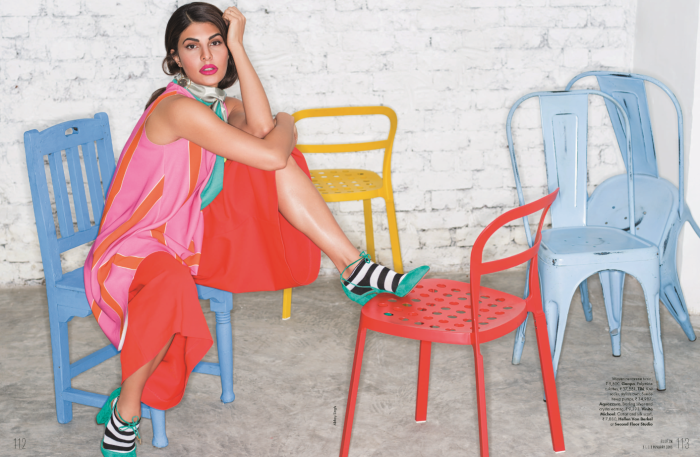 Go bold this winter. Tibi's Agathe Culottes seen in the January issue of Elle India.