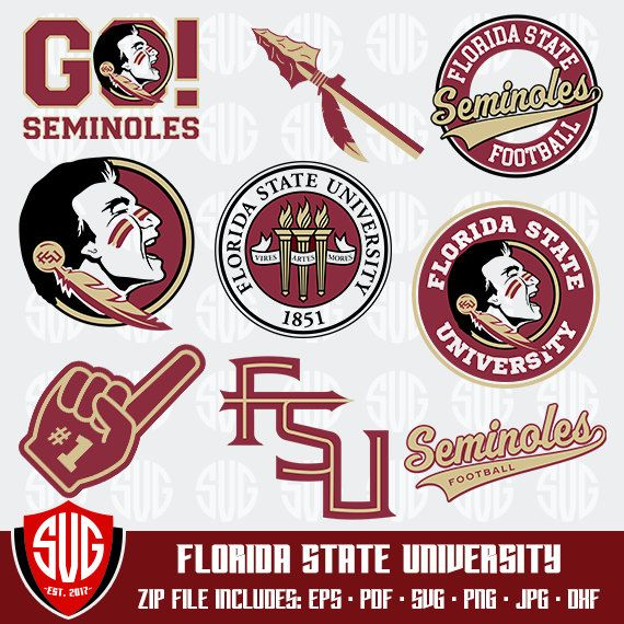 Florida State University Monogram Svg Florida State Silhouette Studio Fsu Cricut Screen Printi Florida State University Florida State Florida State Seminoles