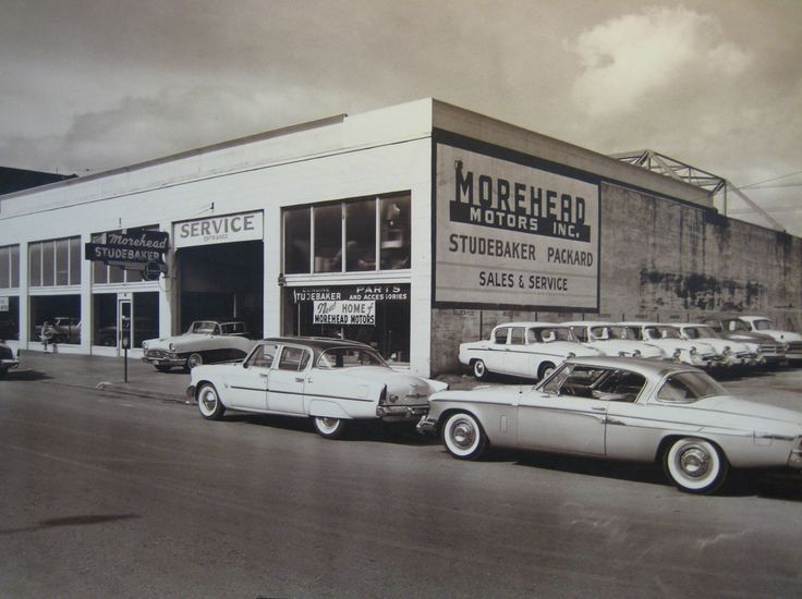 Morehead Motors Studebaker Packard Dealership In 1953 Car Dealership