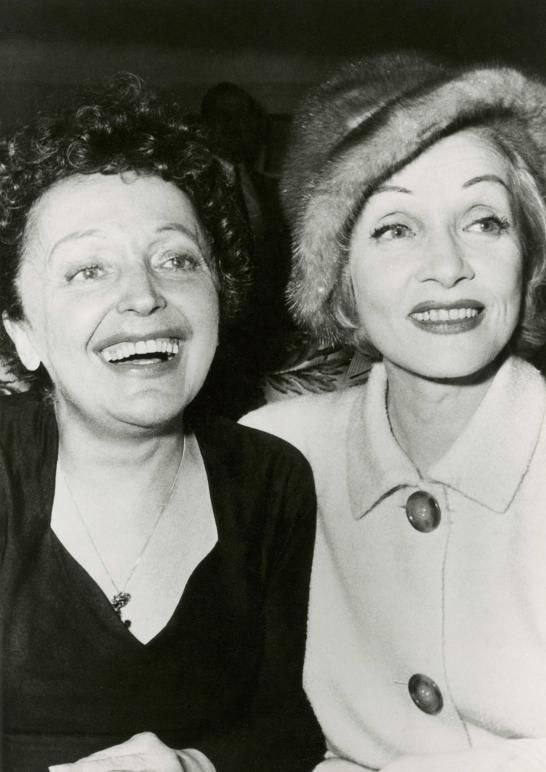 Image result for picture of marlene dietrich and edith piaf og