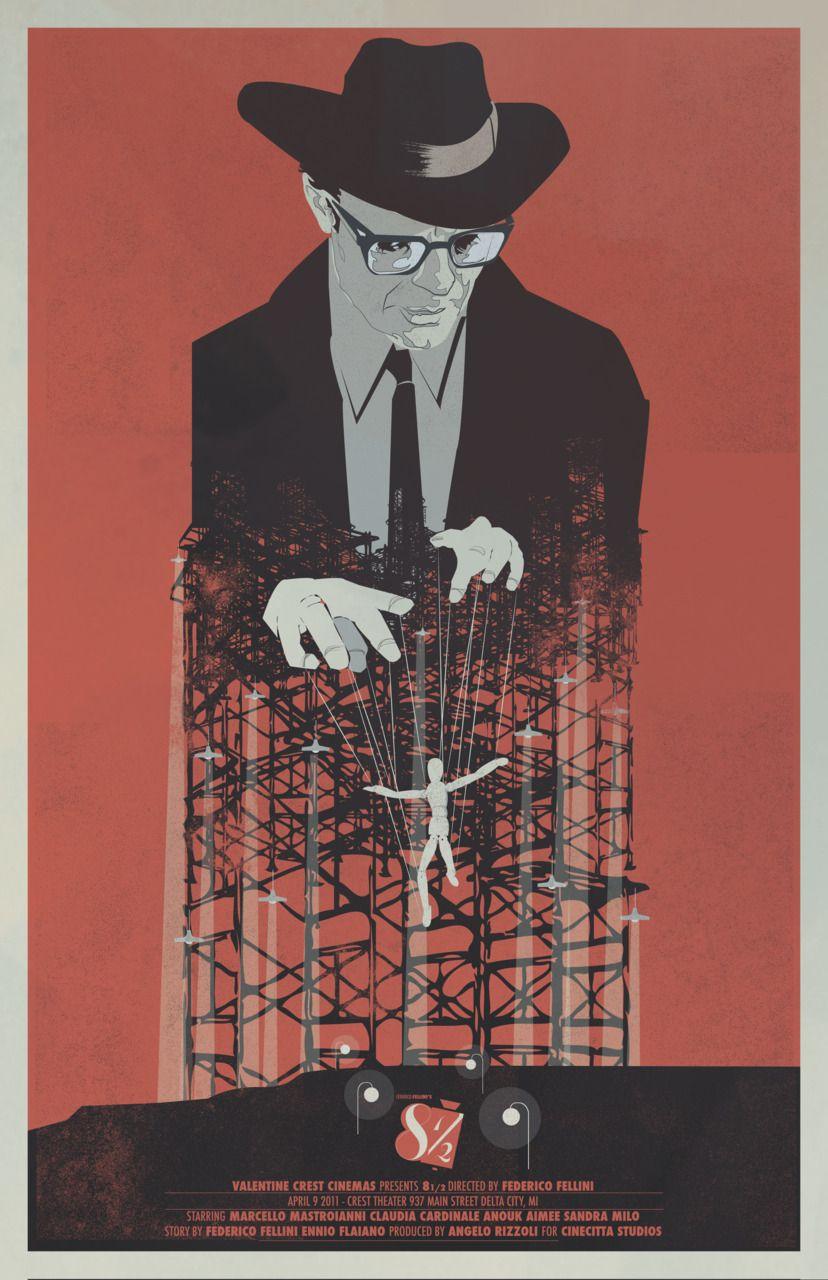 8 1 2 Federico Fellini Movie Poster Movie Posters Design Movie Posters Minimalist Movie Art