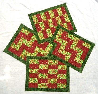 Easy Strip Sampler Placemats PATTERN - Quilting - Sewing Project ...
