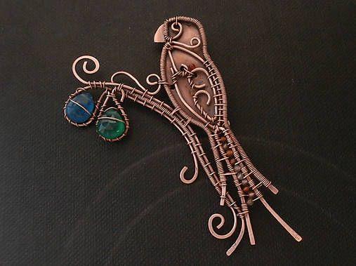 Brošňa Ara / Sade - SAShE.sk - Handmade Odznaky/Brošne   Wire ...