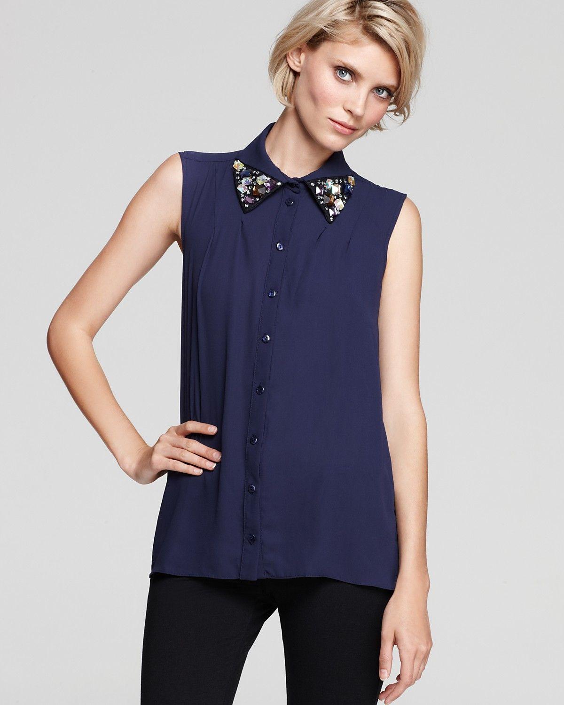 Women S Jeweled Collared Shirt Jeweled Collars Collars Jewels