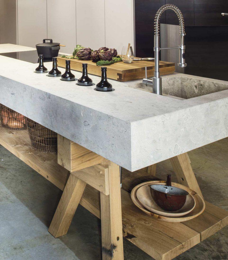 Aufgebockt In 2020 Kuche Beton Modern Rustikale Kuche Kuchen Streichen