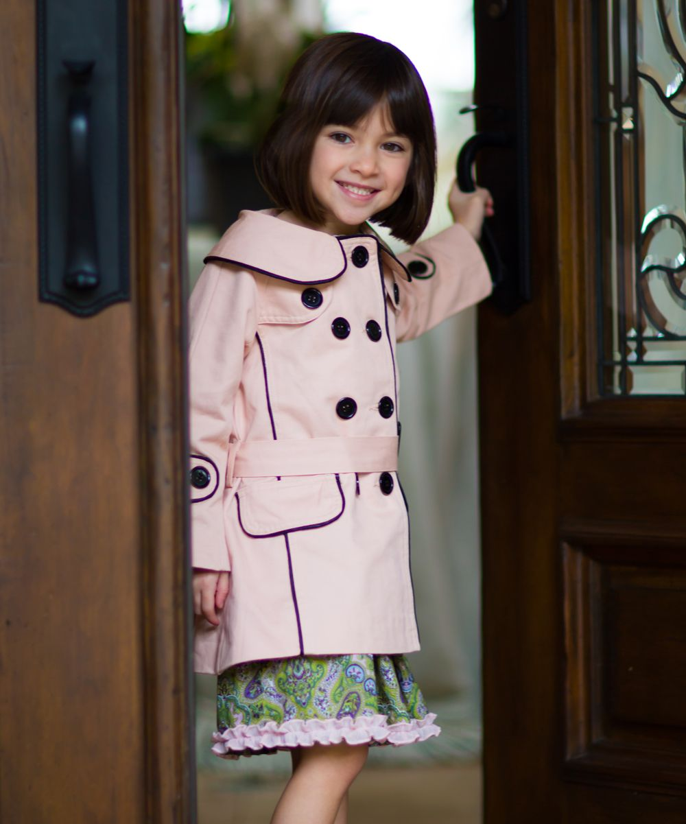 cf10cb43041f Trish Scully Child Pink   Black Audrey Coat - Girls