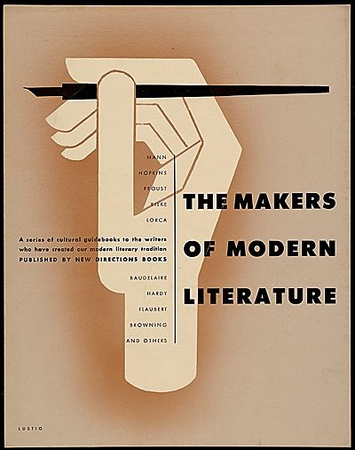 Alvin Lustig [The Makers of Modern Literature poster design ...