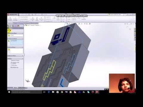 how to make a minecraft figure in solidworks | Electronics