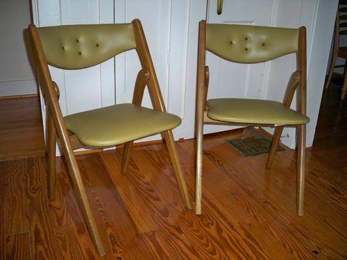 coronet folding chairs ergonomic knee chair 2 mid century modern wonderfold vintage fold teak
