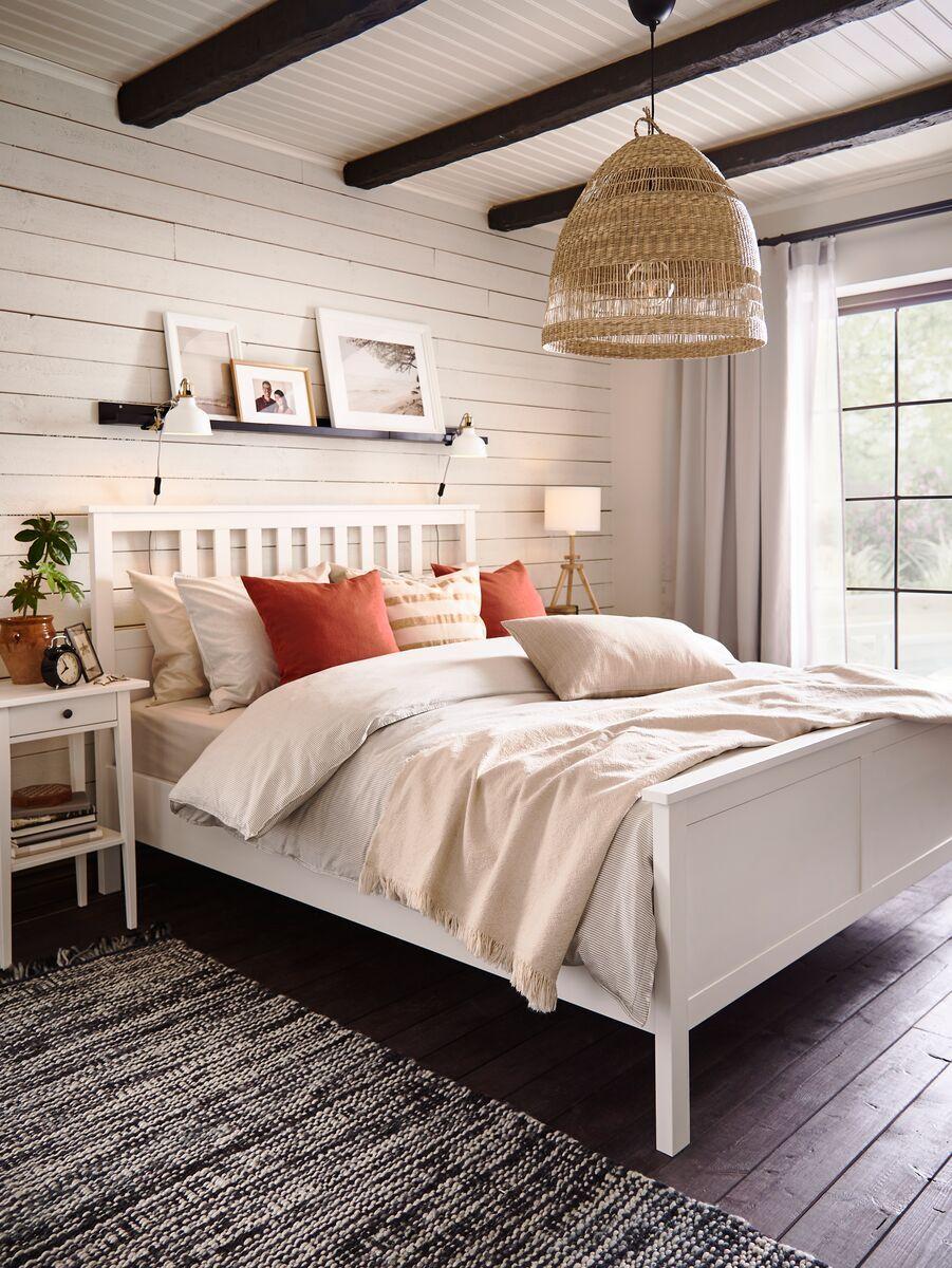 Hemnes Bed Frame White Stain Ikea Switzerland Hemnes Bed Room Inspiration Bedroom White Bed Frame Hemnes bedroom ideas pinterest
