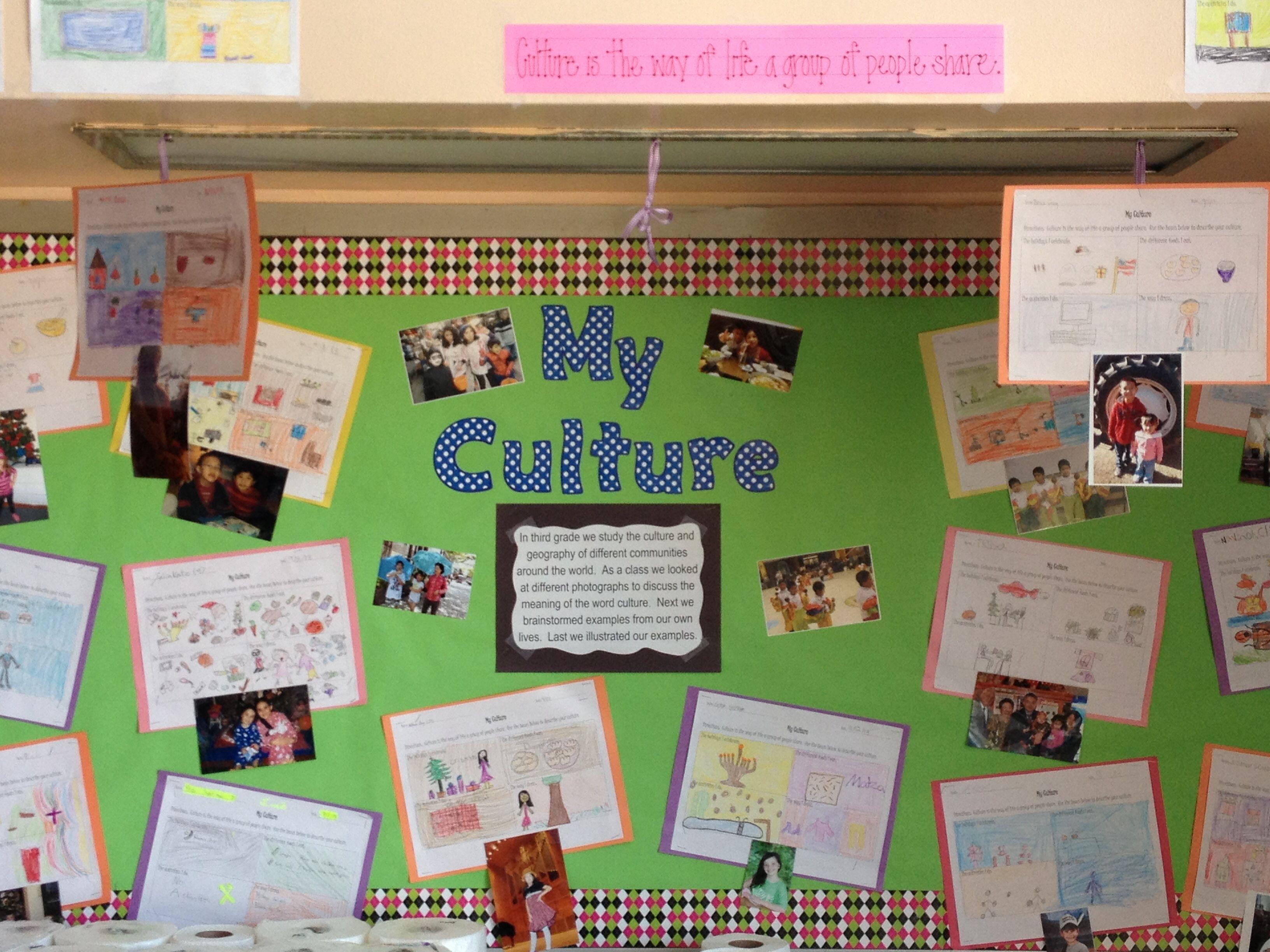 Culture Bulletin Board Social Studies Inspired School