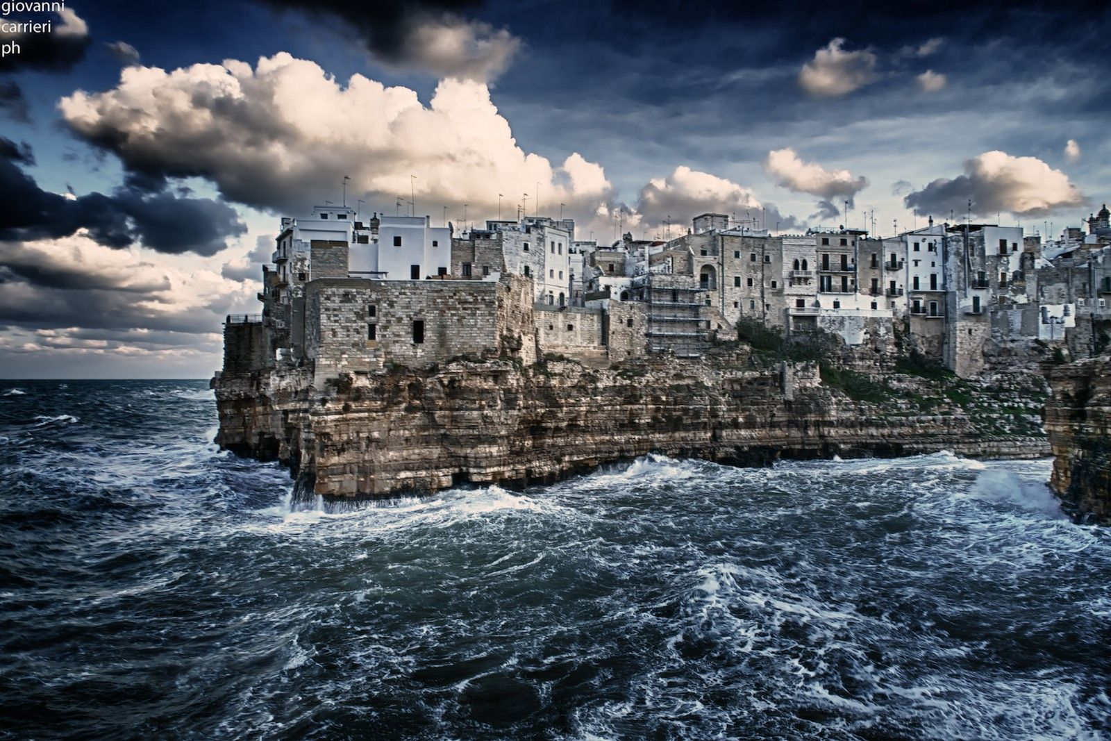 stormy sea polignano a mare towns in italy for