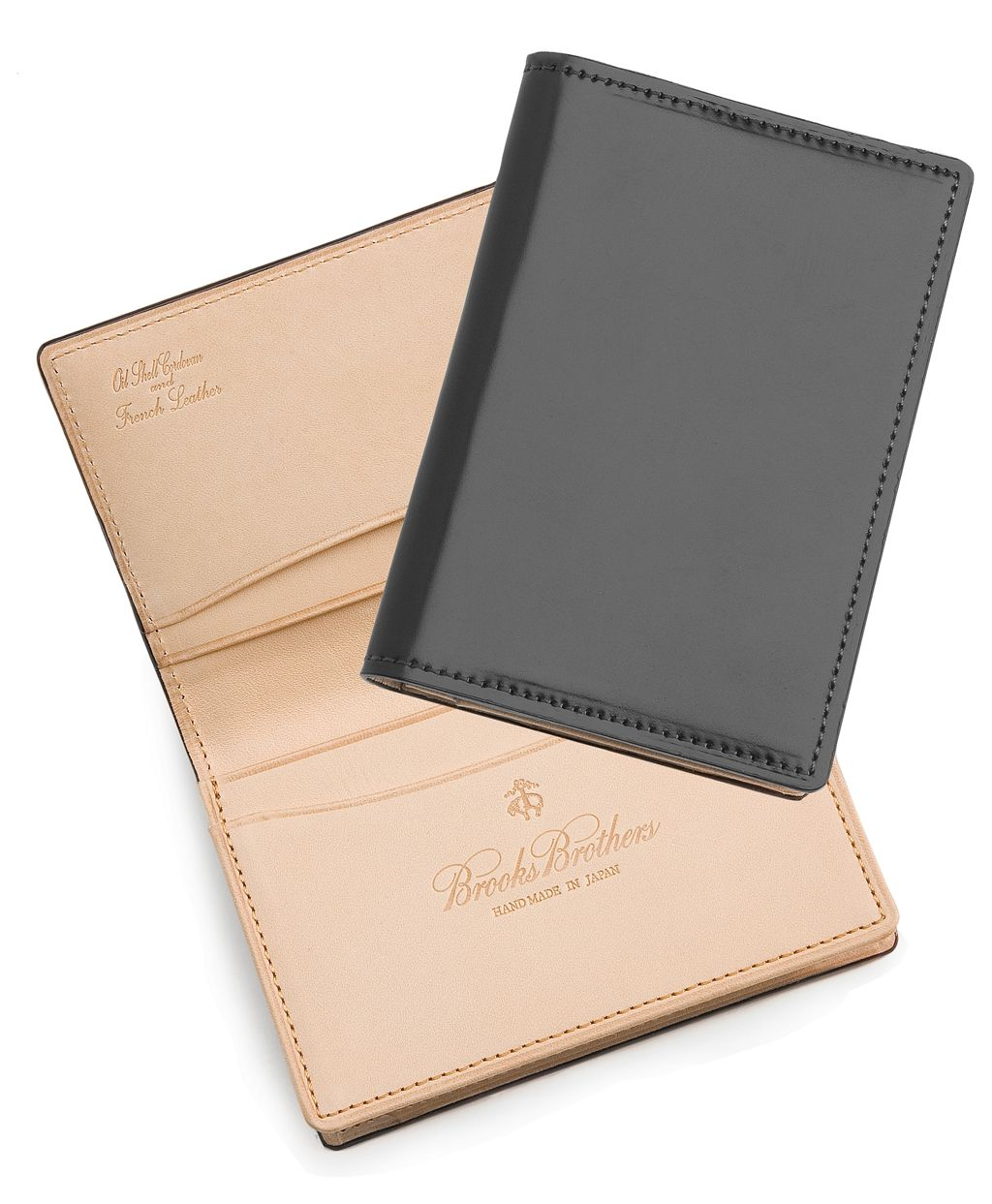 Cordovan Card Case Brooks Brothers Mens Card Holder Leather Business Card Case Wallet Men
