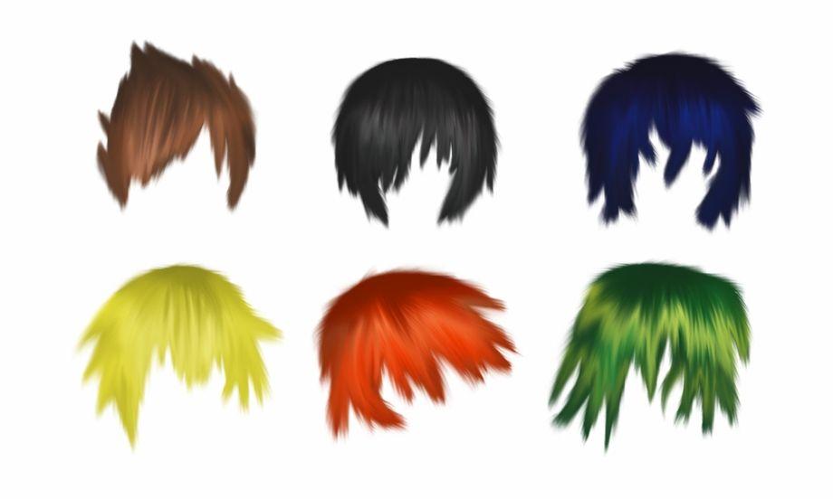 Male Anime Hair Png Red Hair Men Anime Hair Hair Png