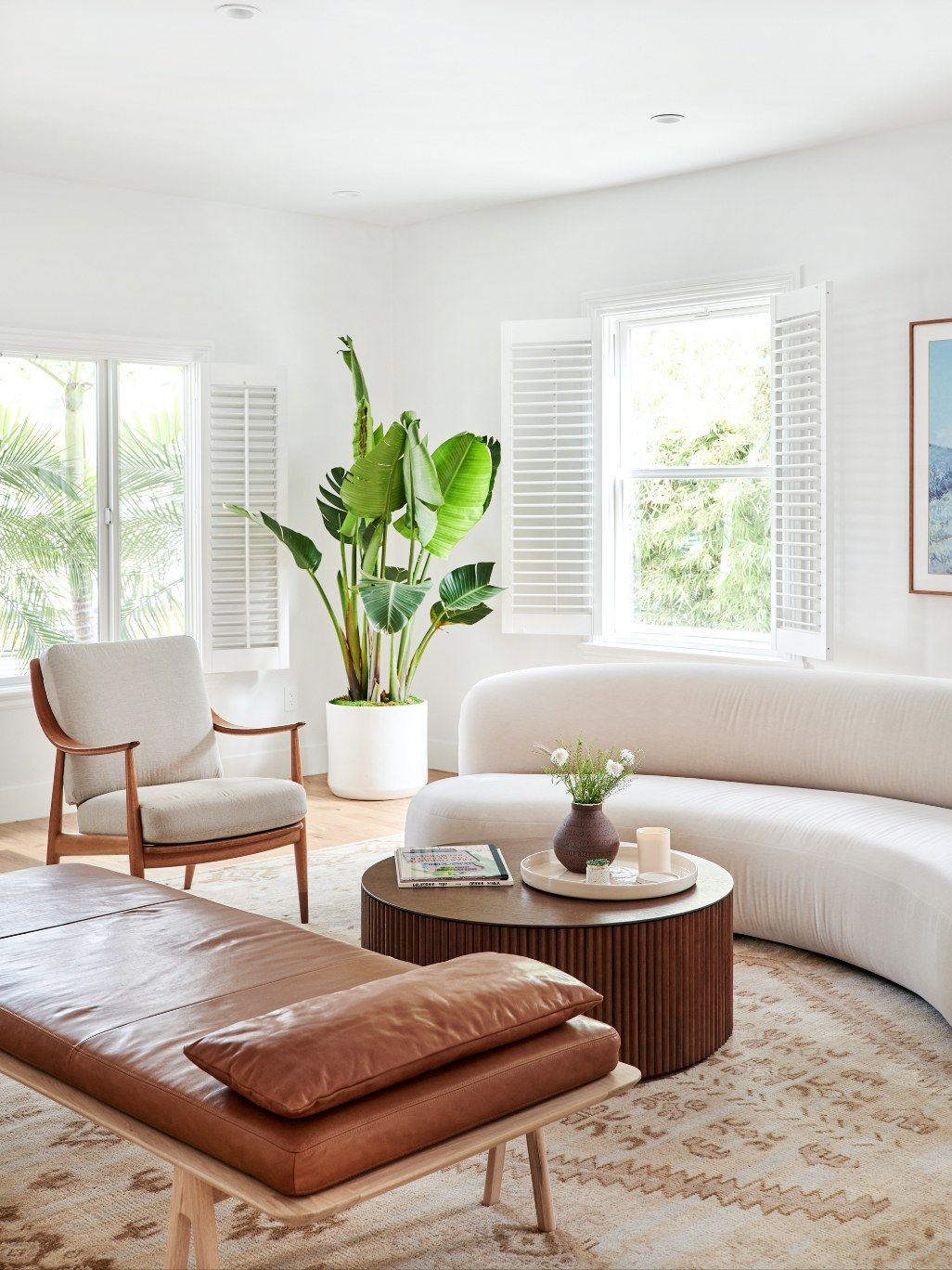 How Designer Melanie Burstin Fixed 5 Flipping Houses Mistakes In Her Latest Makeover Curved Sofa Living Room Curved Sofa Living Room Sofa