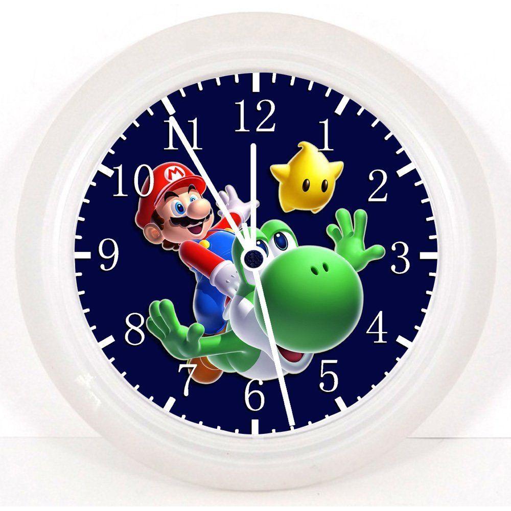 Super Mario Wanduhr Kinderzimmer Super Mario Pinterest