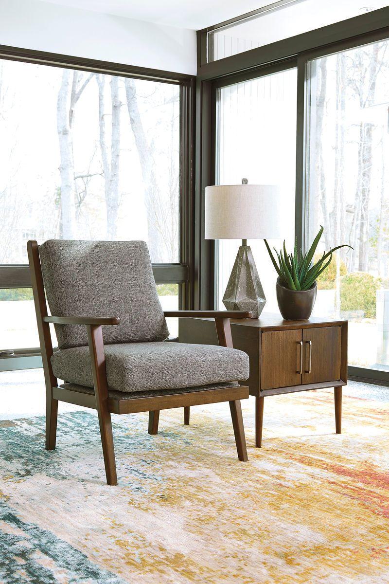 Zardoni Charcoal Accent Chair Ashleyexpress Furniture