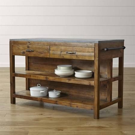 Crate And Barrel Butcher Block Kitchen Island : long skinny kitchen island - Google Search Megahouse Wood kitchen island, Reclaimed wood ...