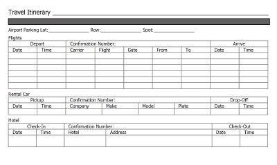 Doc578750 Microsoft Itinerary Template Itinerary Template – Business Itinerary Template
