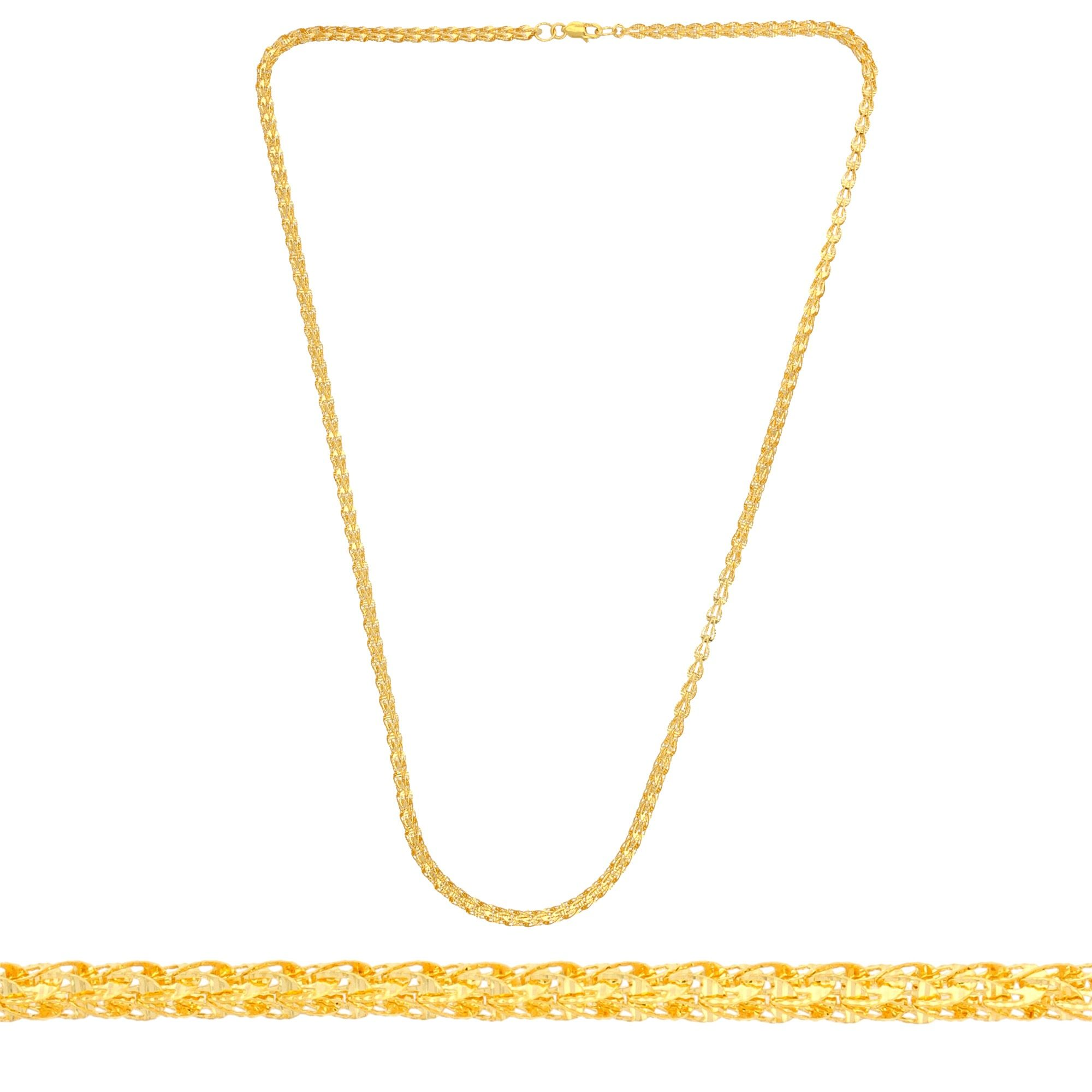 Lightweight Fancy Gold Chain Dedicated To Ladies Great Decoration On