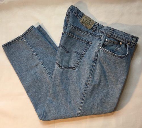 8882d08e Levi-039-s-Mens-SilverTab-Blue-Jeans-Denim -Baggy-Loose-Size-35-x-30-Tag-36x32-VTG