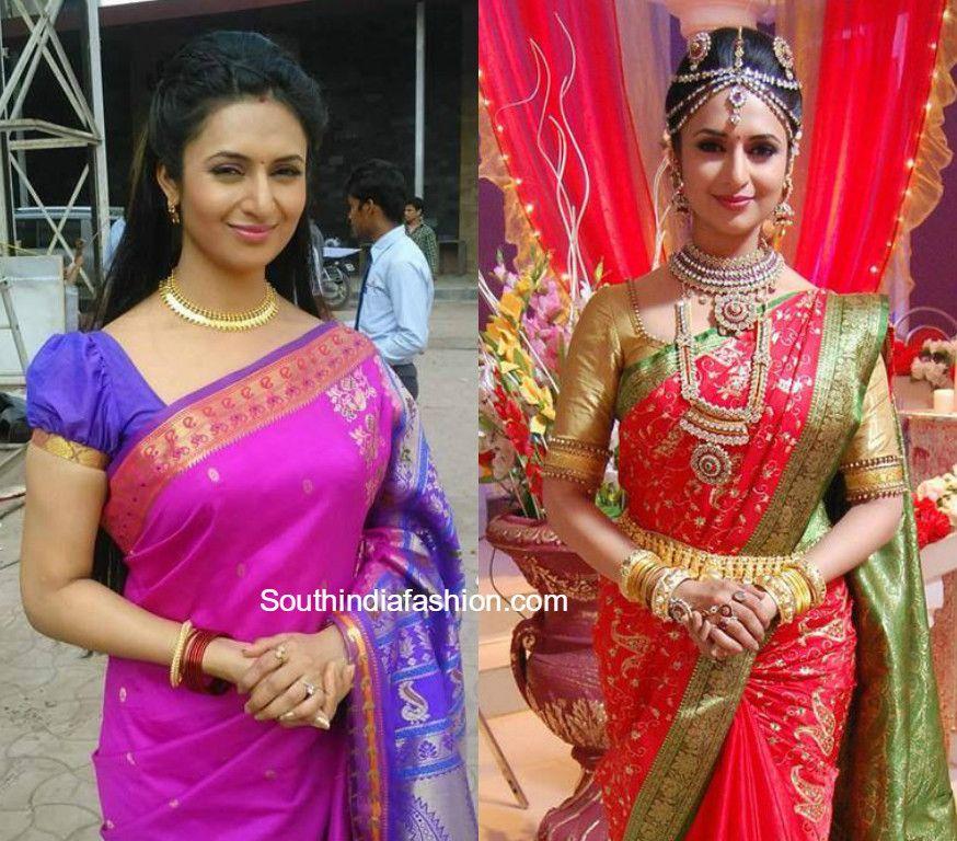 Divyanka Tripathi (Ishita) Saree Blouse Designs in Yeh Hai