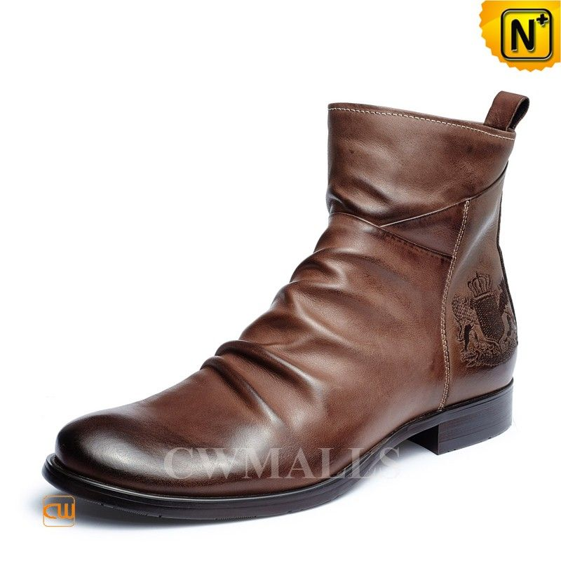 2ce415fe8a9 CWMALLS® Mens Vintage Leather Ankle Boots CW726502 Vintage Men's ...