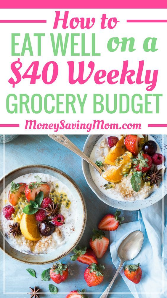 How to Eat Well on a $40 Weekly Grocery Budget {Tips, Sample Menu