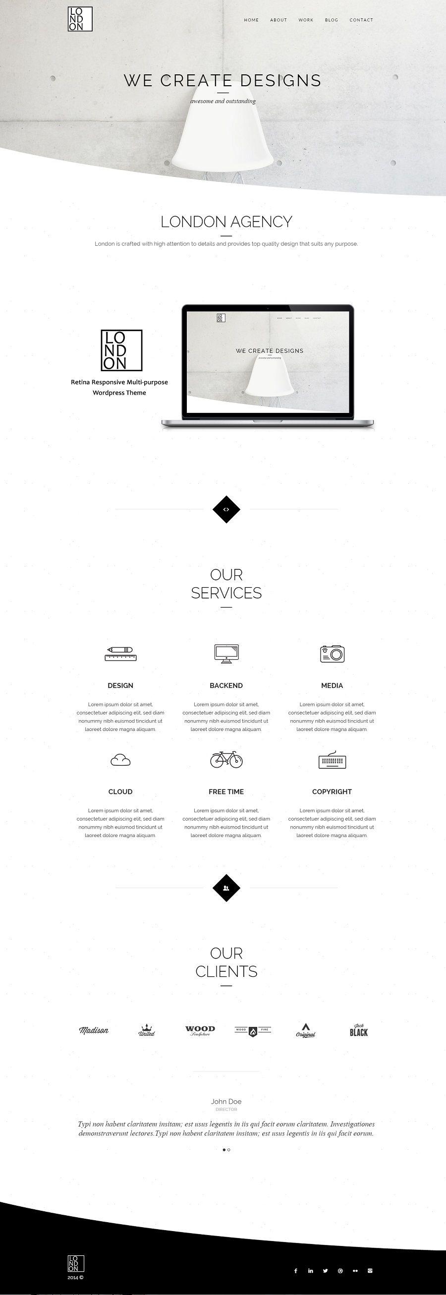 53 Best Minimal Simple Wordpress Themes 2020 Minimalist Web Design Web Design Minimal Web Design