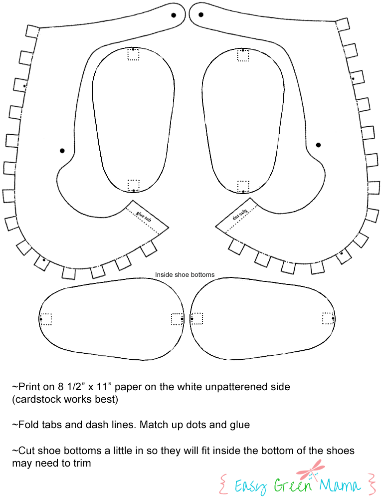 Template For Paper Baby Shoes Party Ideas
