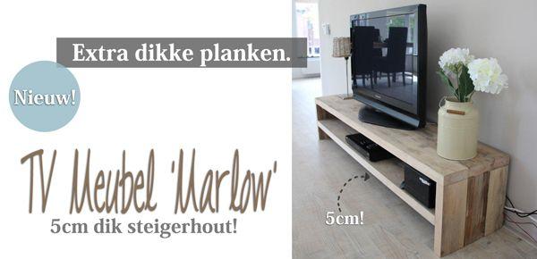 Stoere TV-meubelen van steigerhout. Alle maten en wensen zijn mogelijk bij Rustikal Meubelen. Ze maken alles op maat en aan de hand van uw idee of tekening! www.rustikal.nl