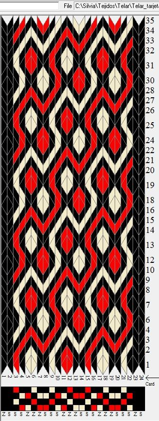 24 tarjetas 3 colores sed 416 weaving cards tissage On métier artisanat modification textile